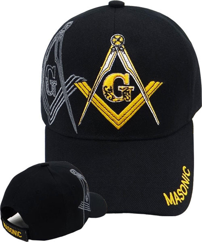 50dcb1df6ba Mason Hat Black Baseball Cap with Masonic Logo Freemasons Shriners Prince  Hall Lodge Headwear
