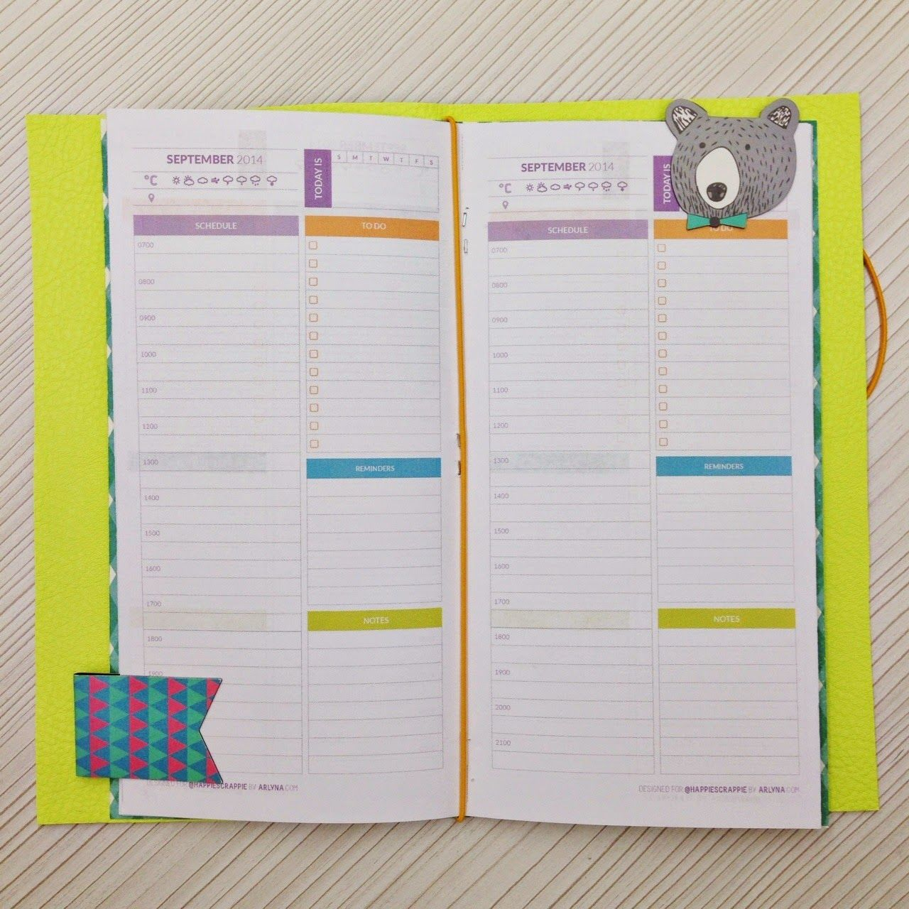 Traveler S Notebook Calendar Inserts : Happiness is scrappy freebies⎪happiedori free