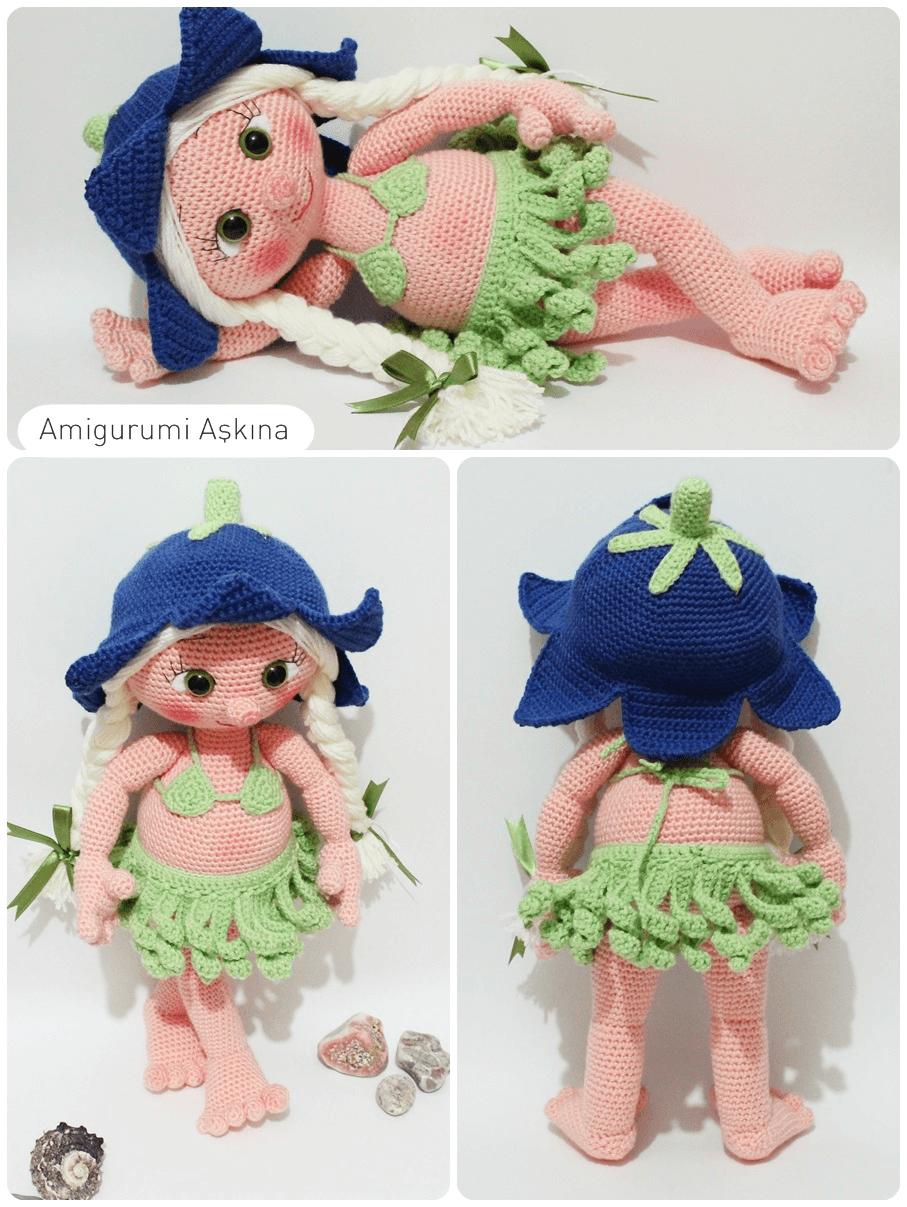 Amigurumi Hawai Doll : Amigurumi a k na �rg� oyuncaklar m hawai li