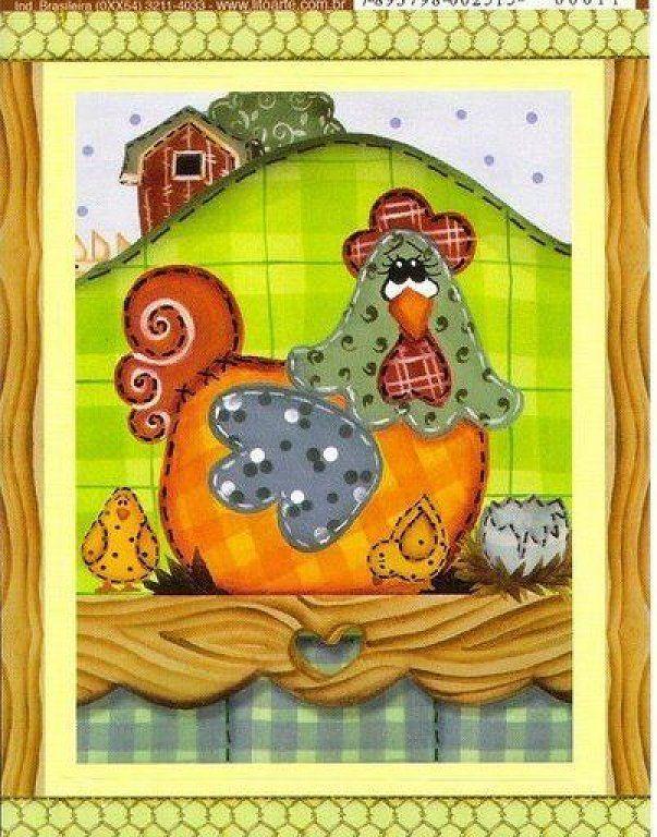 Dibujos De Cocina Country Imagui Patron De Pollo Artesanias De Pollo Manualidades