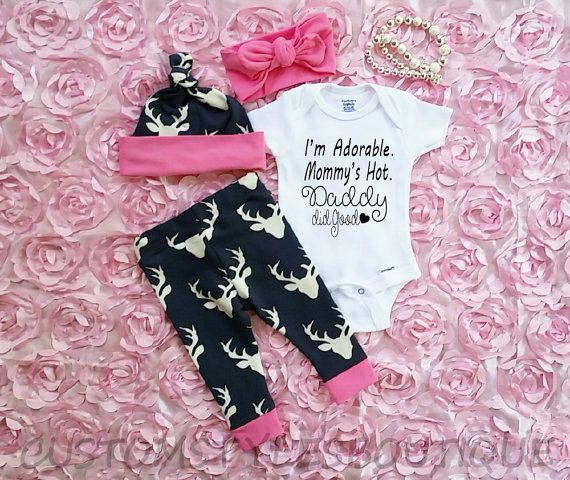 Hey, I found this really awesome Etsy listing at https://www.etsy.com/listing/398927349/baby-girls-coming-home-outfit-deer