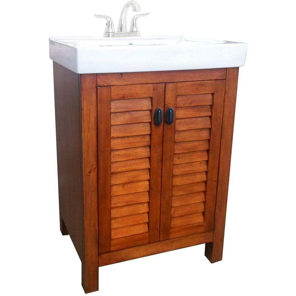 Belle Foret BFCAMDEN24 Camden Pine Single Basin Bathroom Vanity Sets |  EFaucets