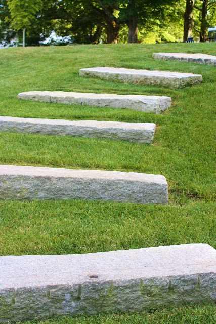 Grass With Stone Risers Graceful Steps Decks And