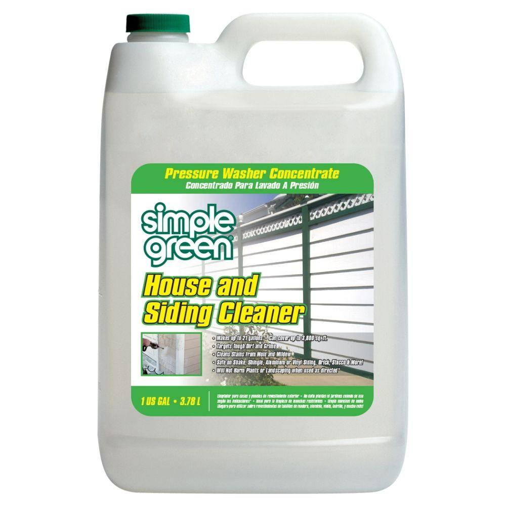 Simple Green 1 Gal House And Siding Cleaner Pressure Washer Concentrate 2300000118201 The Home Depot Cleaning Vinyl Siding Simple Green Cleaning Pressure Washer
