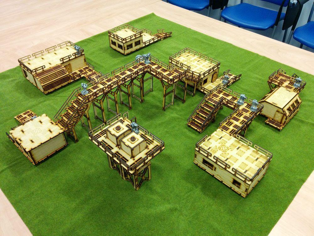 5 Systema Gaming Base0 Bundle MDF Wargaming Terrain