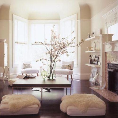 Stylische raumgestaltung mit bodenkissen livingroom - Stylische bilder wohnzimmer ...