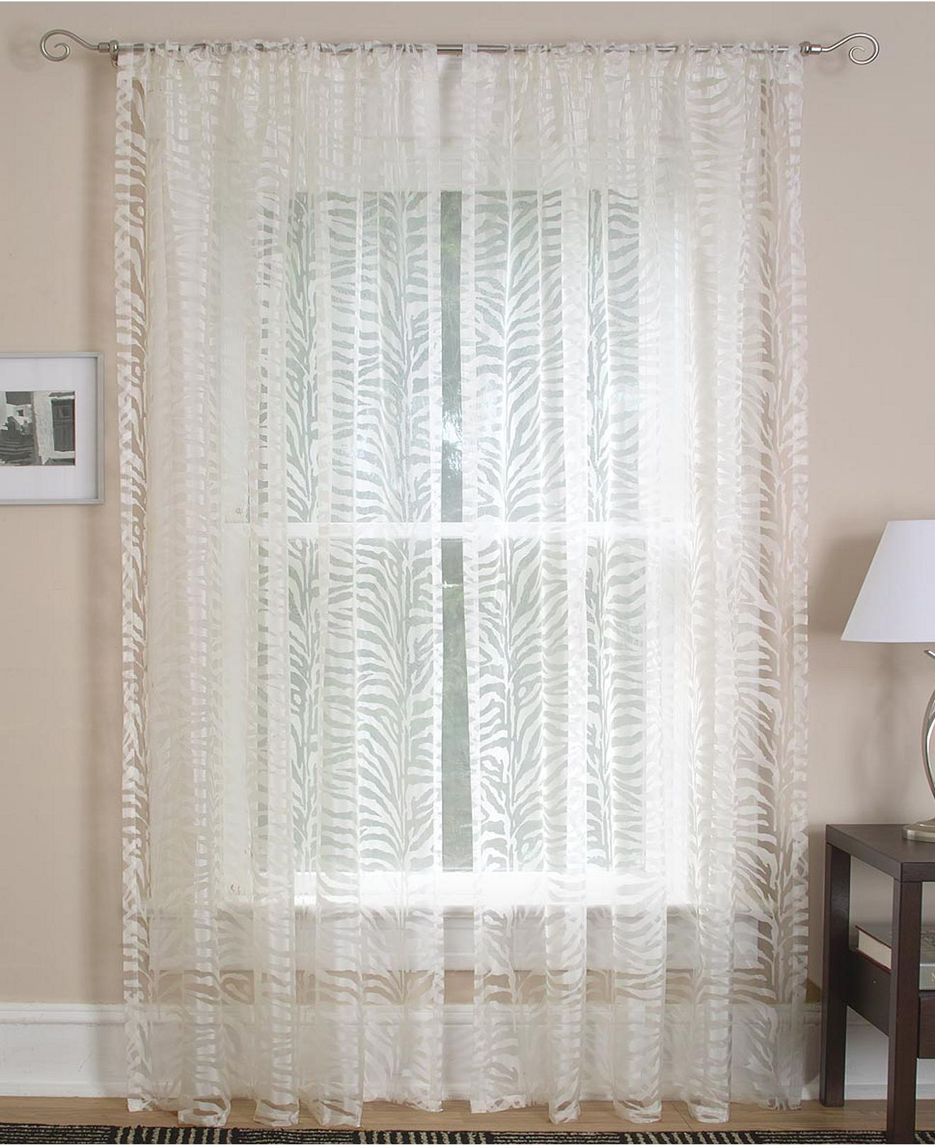 elrene window treatments, kenya collection - sheer curtains - for