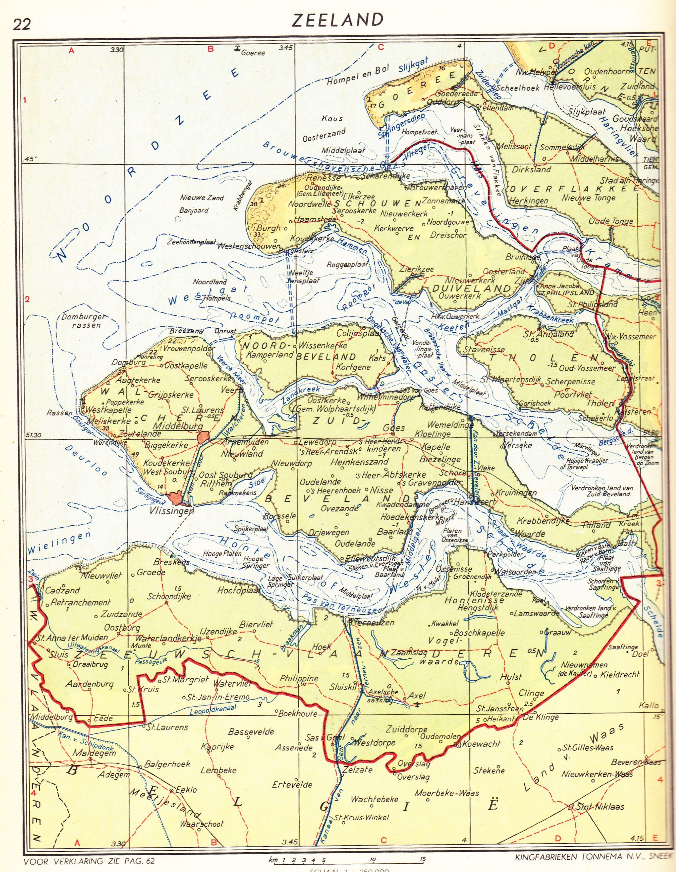 King Wereldatlas 1960 Zeeland in kaarten ZeelandNetherlands on
