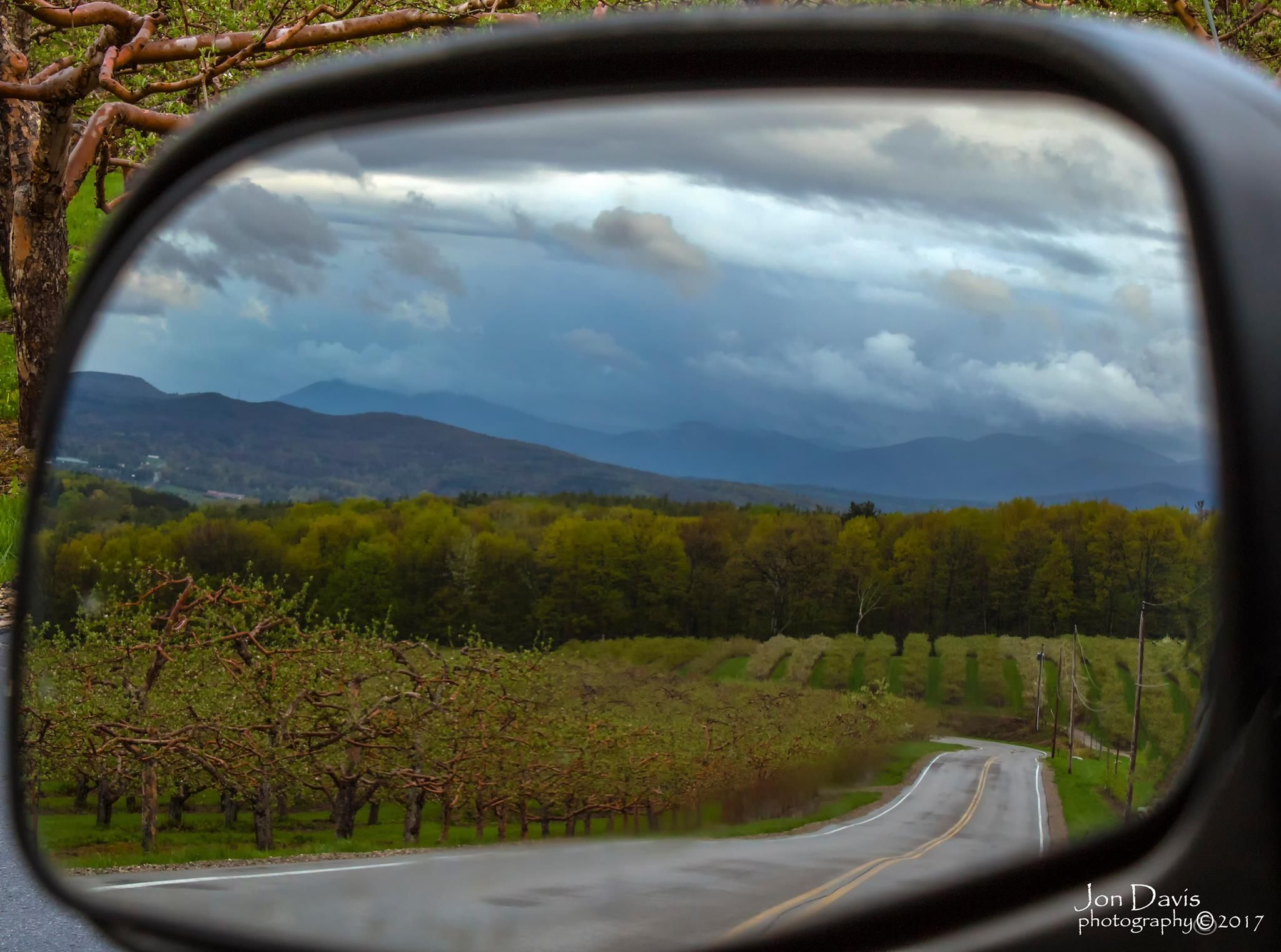 Apple Orchard Bennington Vt Vermont Car Mirror Apple Orchard
