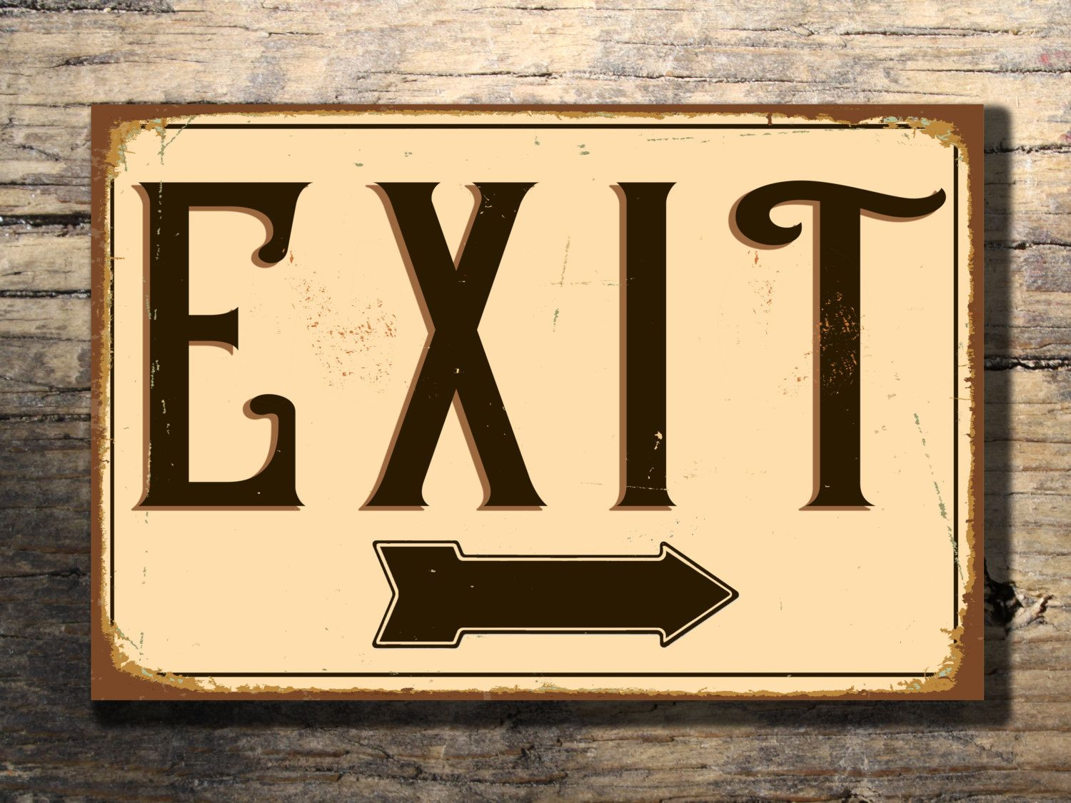EXIT SIGN, Exit Signs, Vintage style Exit Sign, Custom Signs, Exit ...