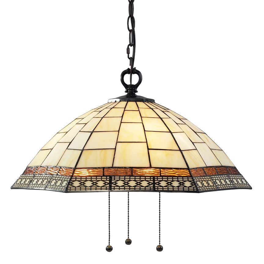 Z Lite Prairie Garden Collection Chestnut Bronze Finish Three Light Pendant