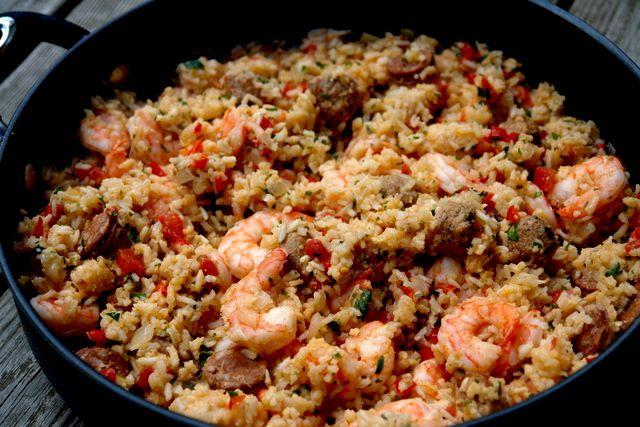 Arroz con chorizo y camarones or rice with chorizo and shrimp by laylita #Seafood #Rice #Ecuadorian #laylita