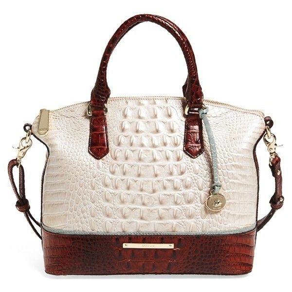 Brahmin Duxbury Bicolor Croc Embossed Leather Satchel 295 Liked On Polyvore Featuring Bags Handbags Purses