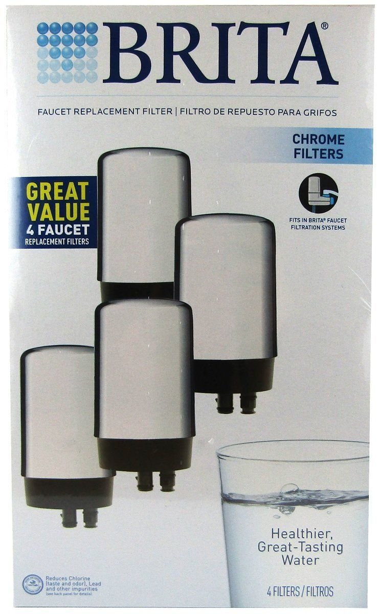 Brita On Tap Replacement Filters 4 Pack Chrome Ad Replacement Aff Tap Brita Chrome Brita Tap Replacement Filter Filters
