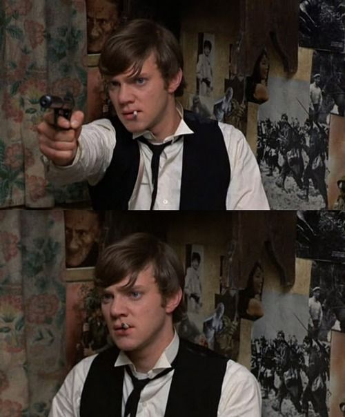 "Malcolm McDowell -1968 from the movie ""If...."""