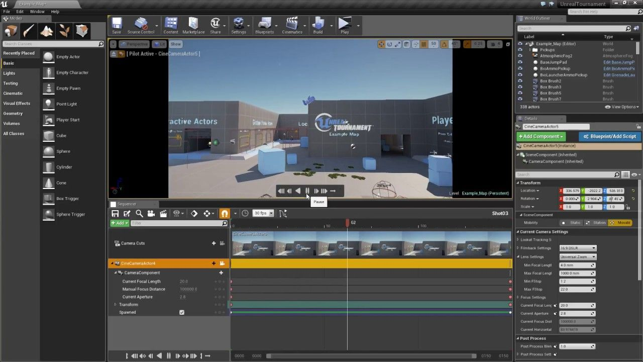 Unreal tutorial how to create a movie to present your level using unreal tutorial how to create a movie to present your level using sequencer youtube malvernweather Choice Image