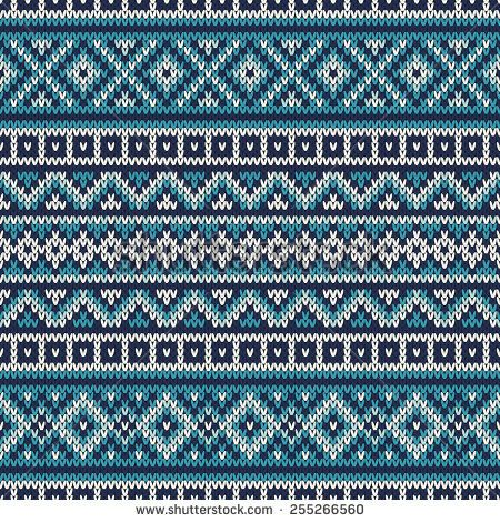 Knitted Sweater Design. Fair Isle Seamless Pattern   орнаменты ...