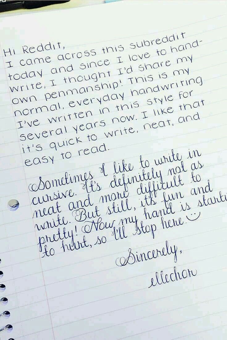 Good Handwriting Is Like An Art To Me I Love It