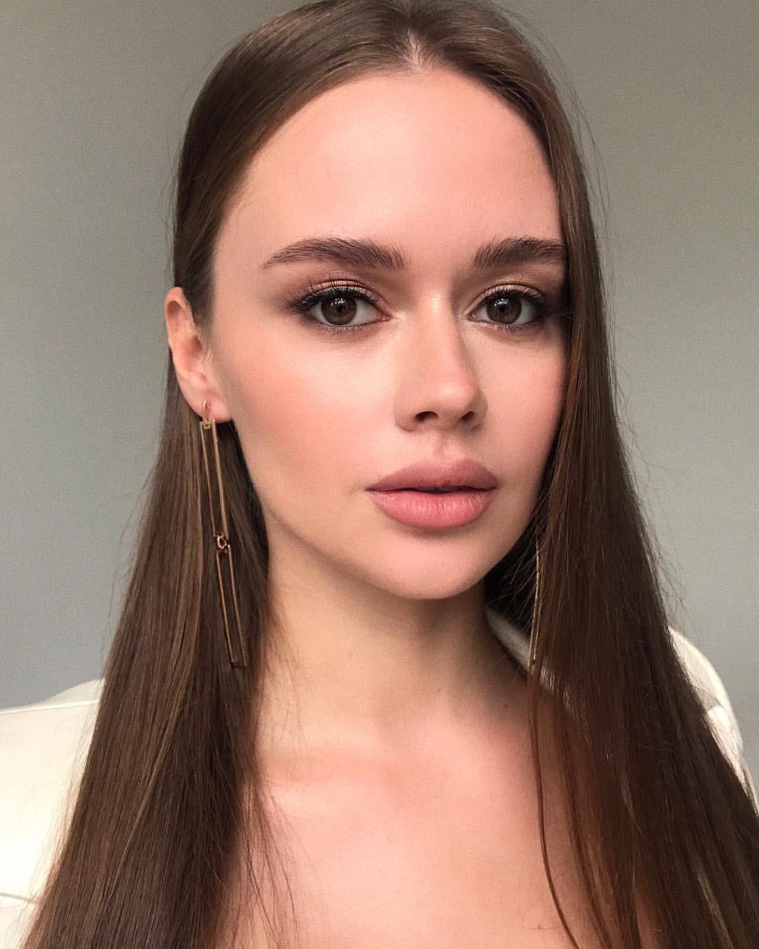 Нюдовый цвет макияж