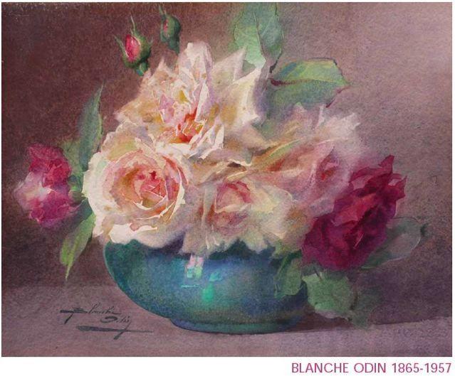 Blanche Odin Peintures Florales Comment Peindre Des Roses