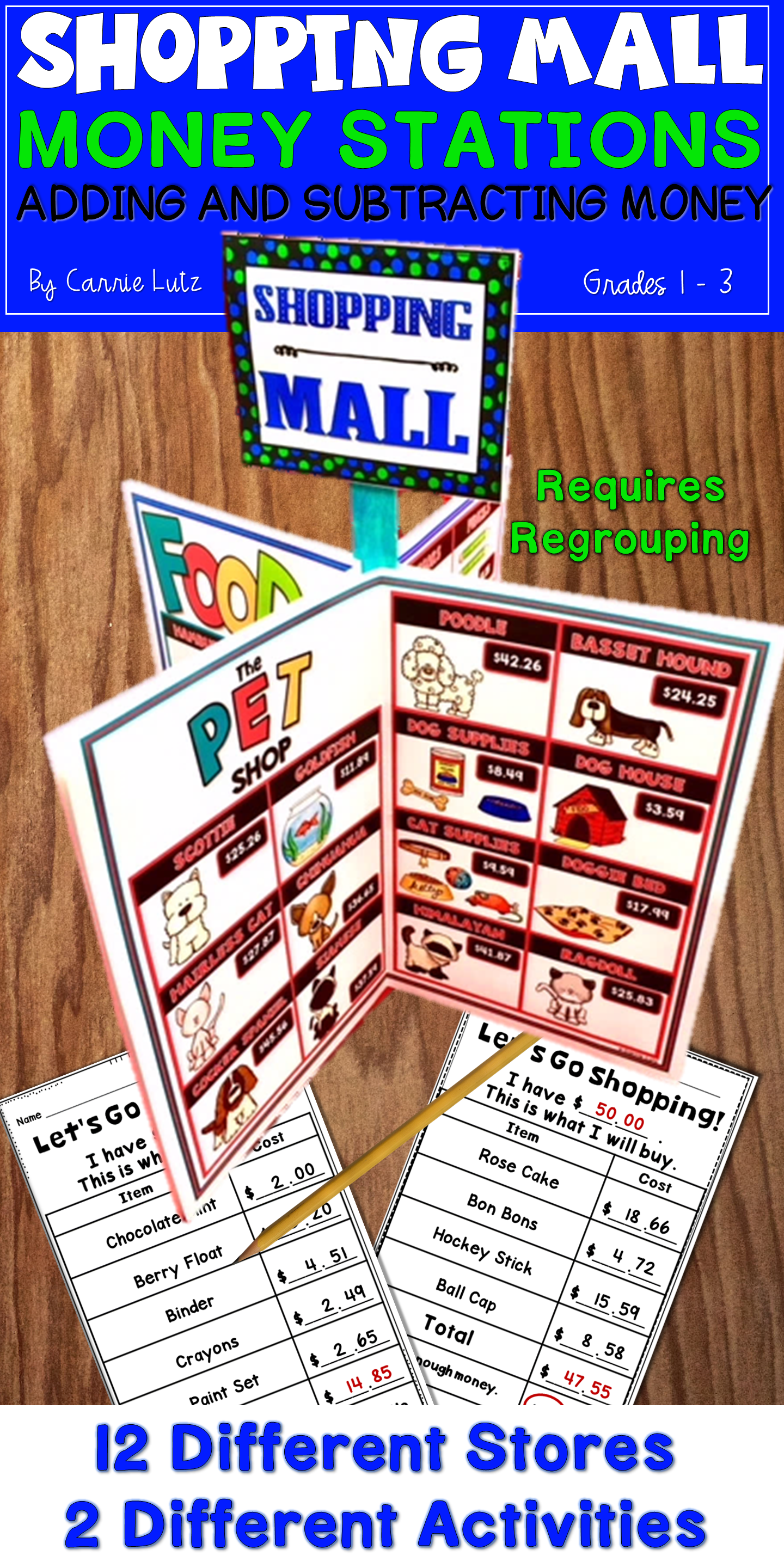 Anyone Want To Go Shopping Take Your Students Shopping At This Cute Stand Up Shopping Mall First You Give Them A Budget Free Math Worksheets Math Free Math [ 2880 x 1440 Pixel ]