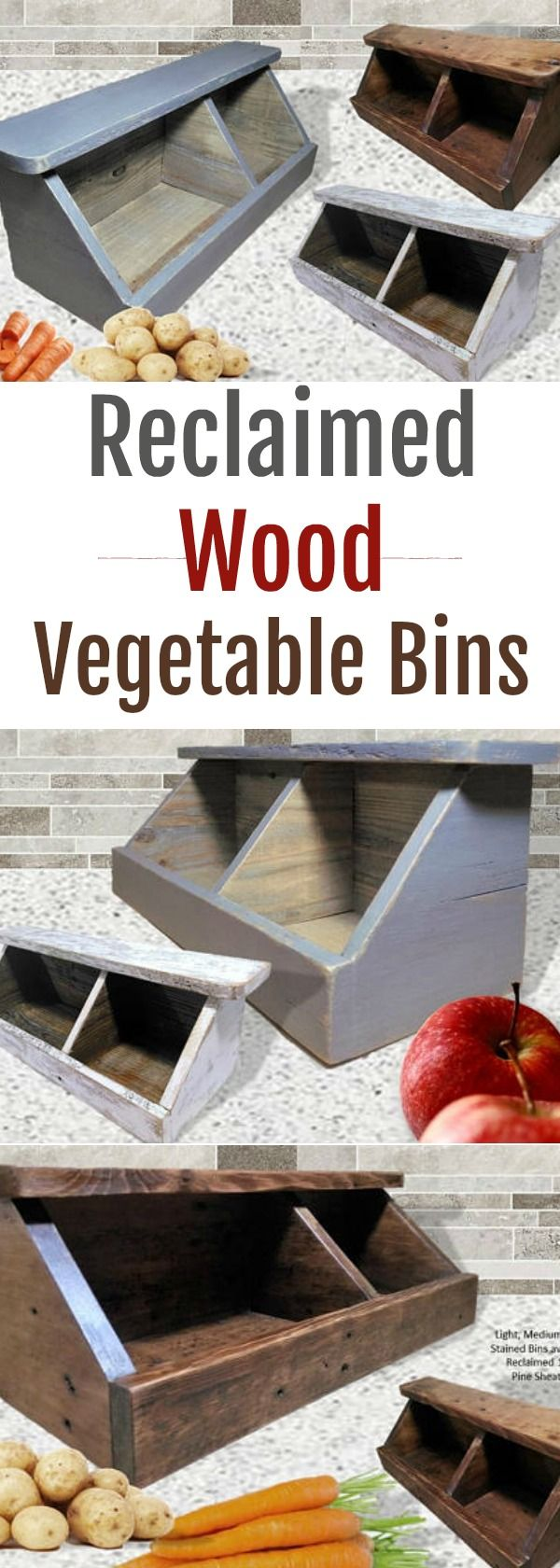 Reclaimed Wood Vegetable Bins - perfect place to store fresh fruit on dry kitchen ideas, juice kitchen ideas, cupcakes kitchen ideas, very large kitchen ideas, peach kitchen ideas, mint kitchen ideas, olive kitchen ideas, strawberry kitchen ideas, grape kitchen ideas, baking kitchen ideas, pumpkin kitchen ideas, pineapple kitchen ideas, garden kitchen ideas, love kitchen ideas, hipster kitchen ideas, cowboy kitchen ideas, tangerine kitchen ideas, nerd kitchen ideas, thanksgiving kitchen ideas, sweet kitchen ideas,