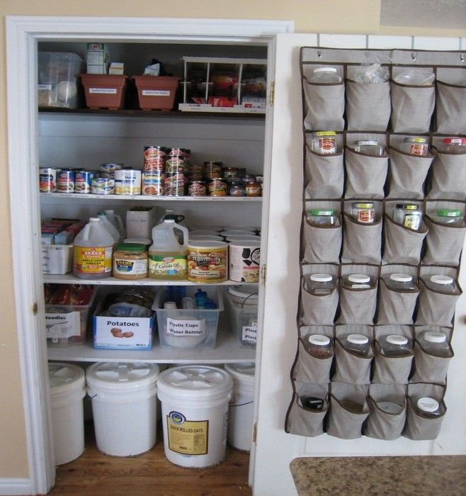 food storage ideas for small spaces living in small spaces pinterest storage ideas food. Black Bedroom Furniture Sets. Home Design Ideas