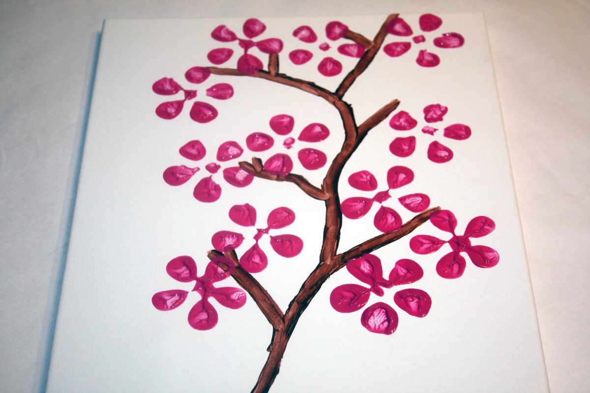 How to paint cherry blossom flowers