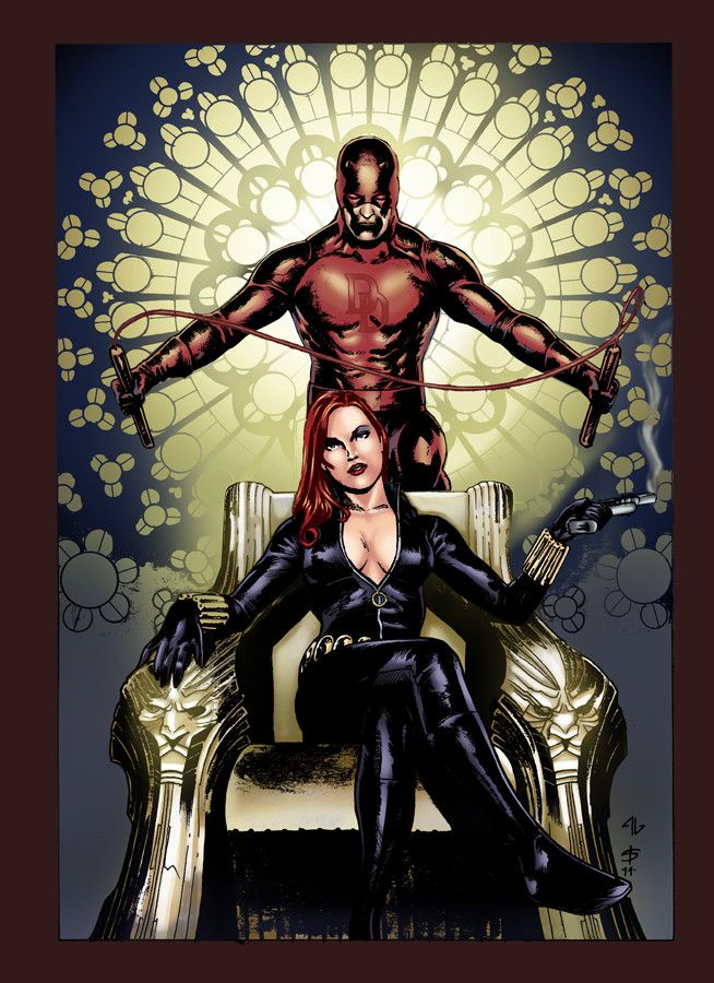 Black Widow and Daredevil | Marvel daredevil, Daredevil
