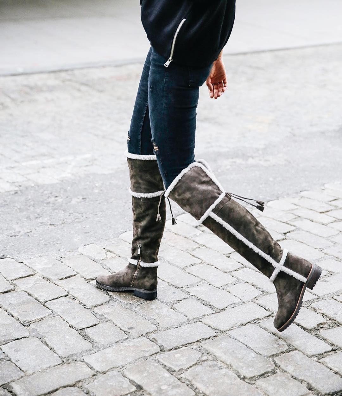 dcfe0bd6b1e Preparing for winter in the Tamara Shearling OTK Boots