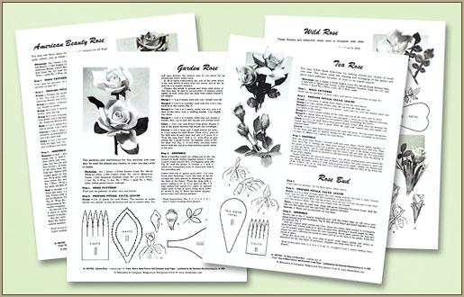 Craft Shop: Crepe Paper Roses Craft Instruction Sheets on Blumchen.com #crepepaperroses