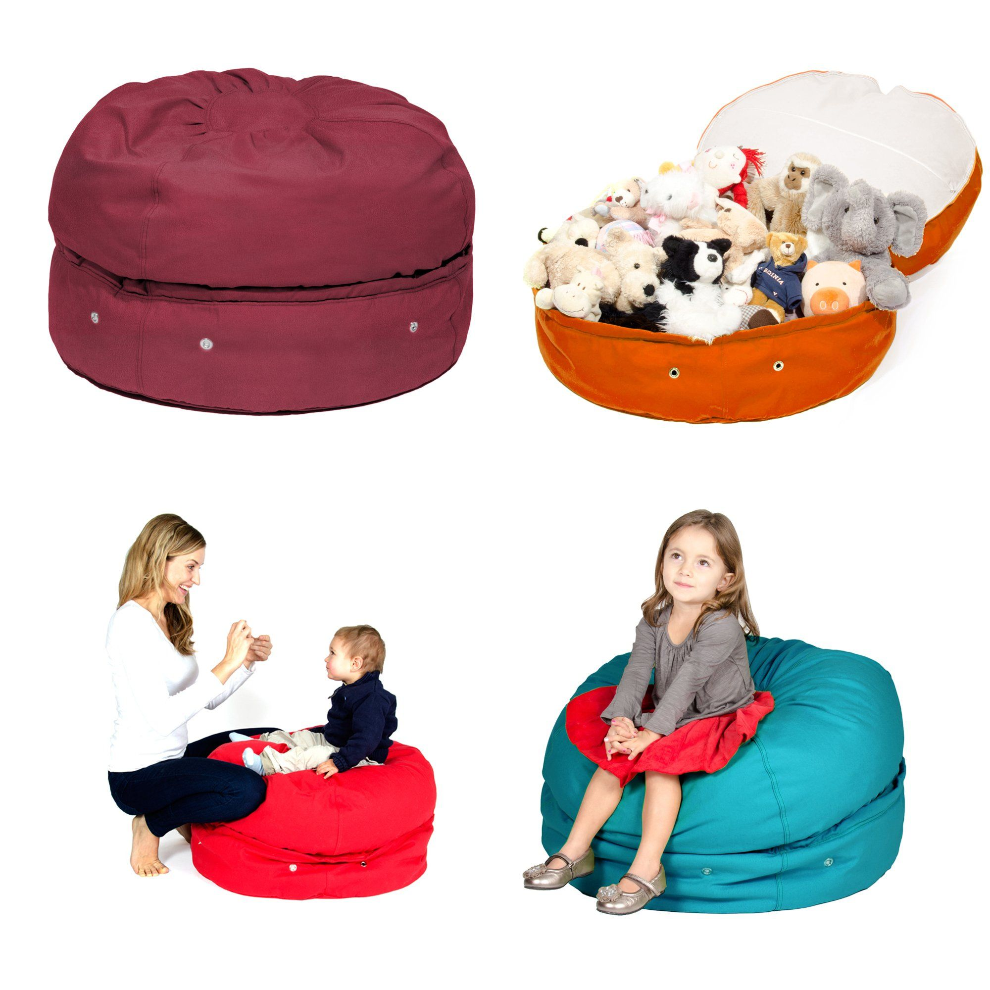 Brilliant Amazon Com Bean Bag Storage Chair By Mimish Made In Usa 13 Ncnpc Chair Design For Home Ncnpcorg