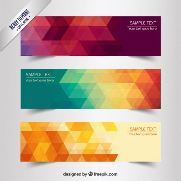 Banners geométricas abstratas | Banners, Graphics and Logos