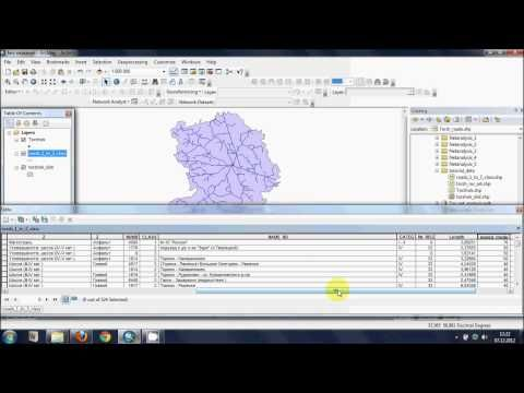 Creating service areas using network analyst, ArcGIS