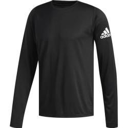 Photo of Adidas Herren Langarmshirt FreeLift Sport Solid Badge of Sport, Größe M in Black, Größe M in Black a