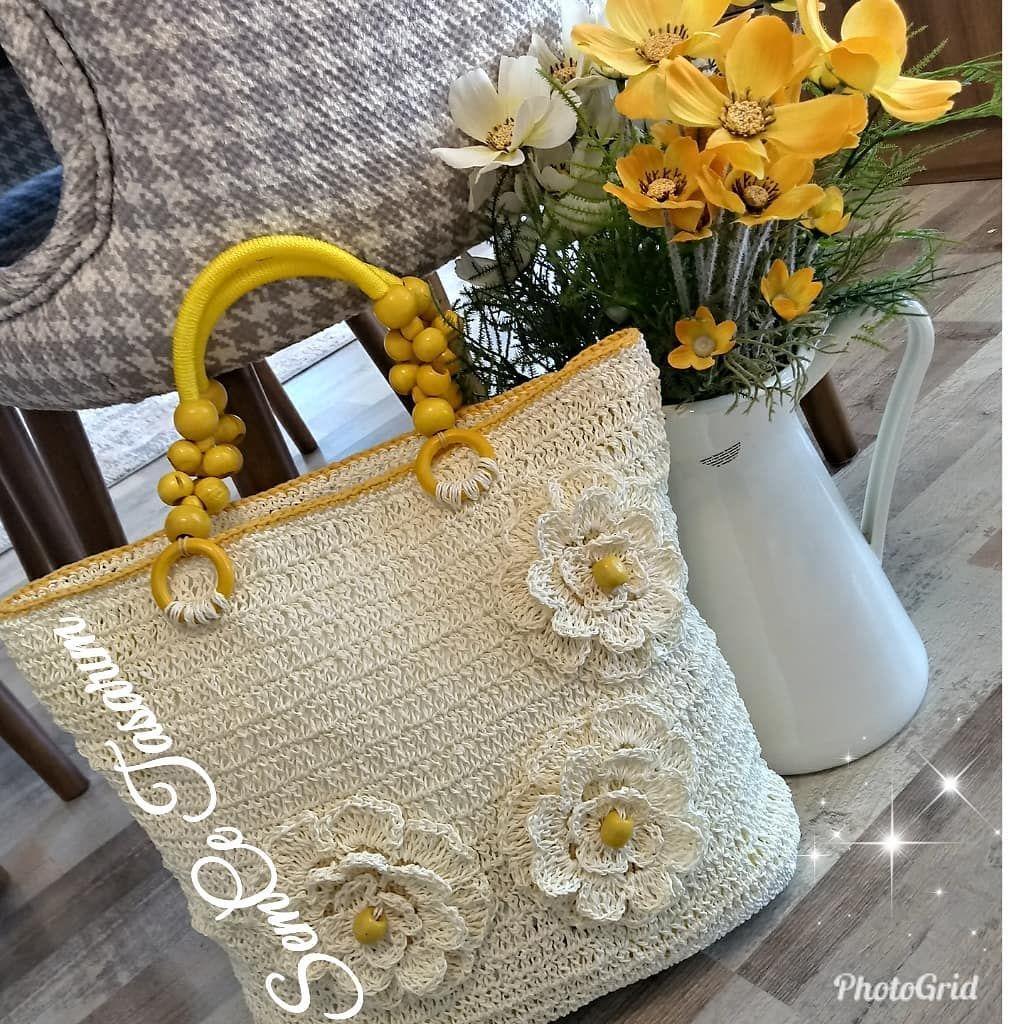 SemCe Tasarım 💙💛 #design #designbag #kagıtip #kagitipcanta #bag #tasarım #handmade #örgüfikirleri #örgüterapi #örgüaşkı #knittinglove #tığişi #crochet... - #crochet #knitting #crochetlove #knittingaddict #knittinglove #crochetgirlgang