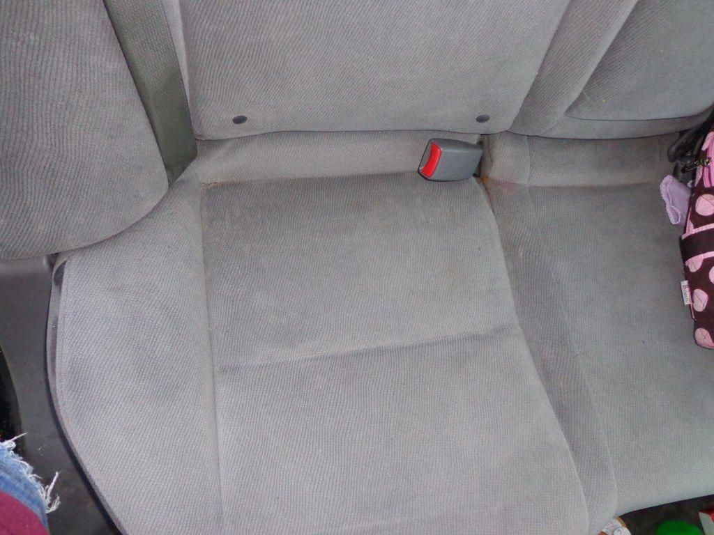 Shampoo the seats in your car with diluted allpurpose