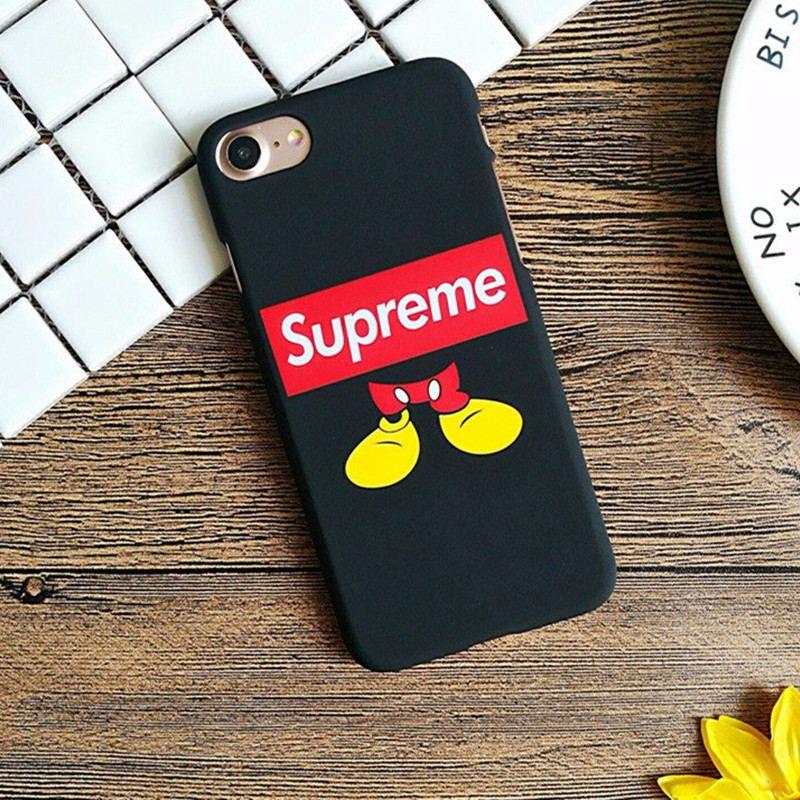 Supreme Simpson Mickey Mouse Superman cat Finger matte Hard PC Phone Cases For  iPhone 5 5s se 6 6s Plus 7 7Plus Coque Cover case 75b28c53eaab