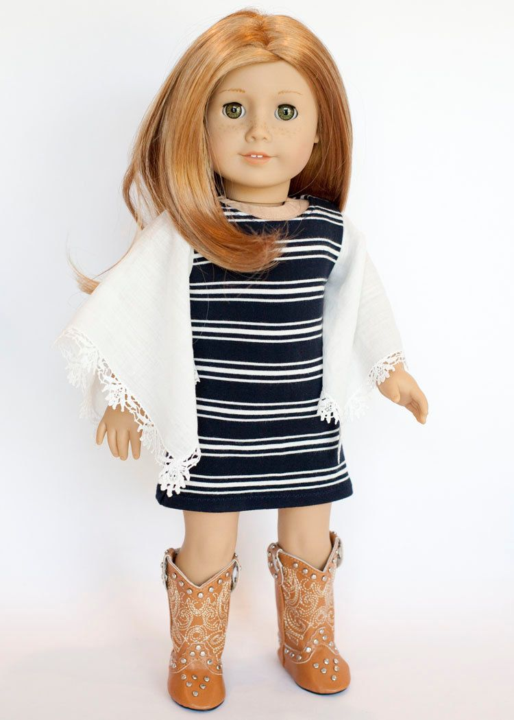 American Girl Doll outfit - boho tunic and cowboy boots by ...