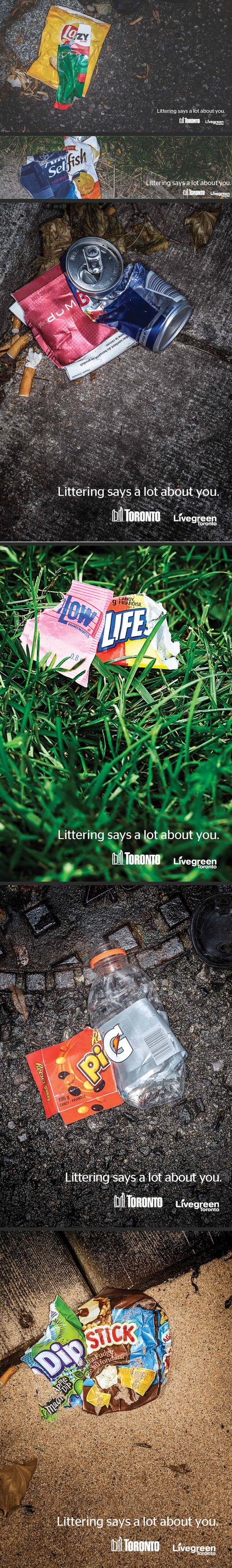 Livegreen Toronto_ Littering says a lot about you Funny