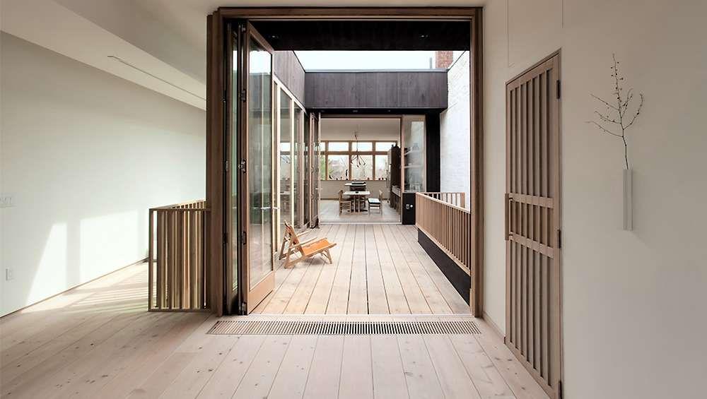 Puit de lumière maison de rêve minimaliste à Toronto déco - puit de lumiere maison