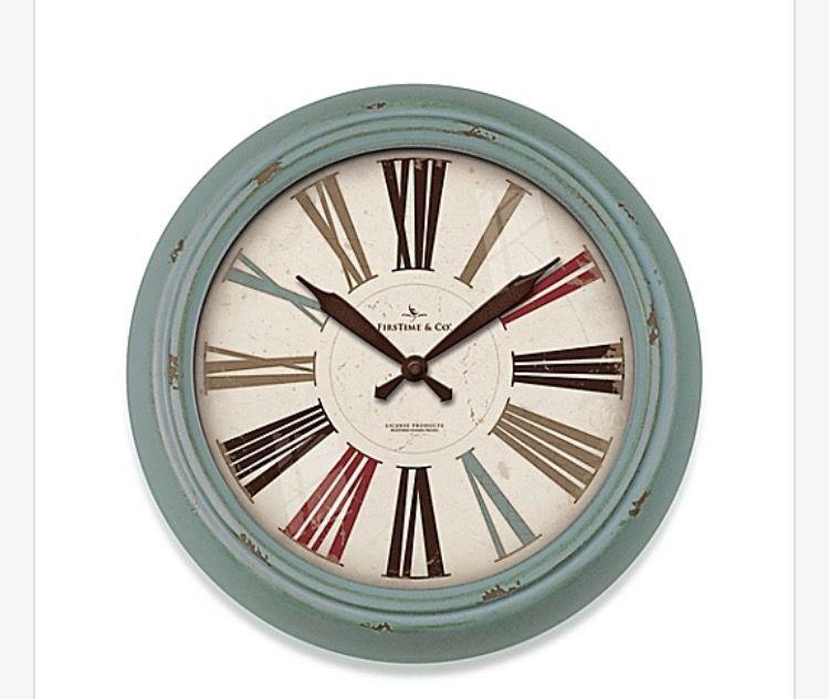 Pin By Elisa Marie On Coastal Inspiration Wall Clock Roman Numeral Wall Clock Clock