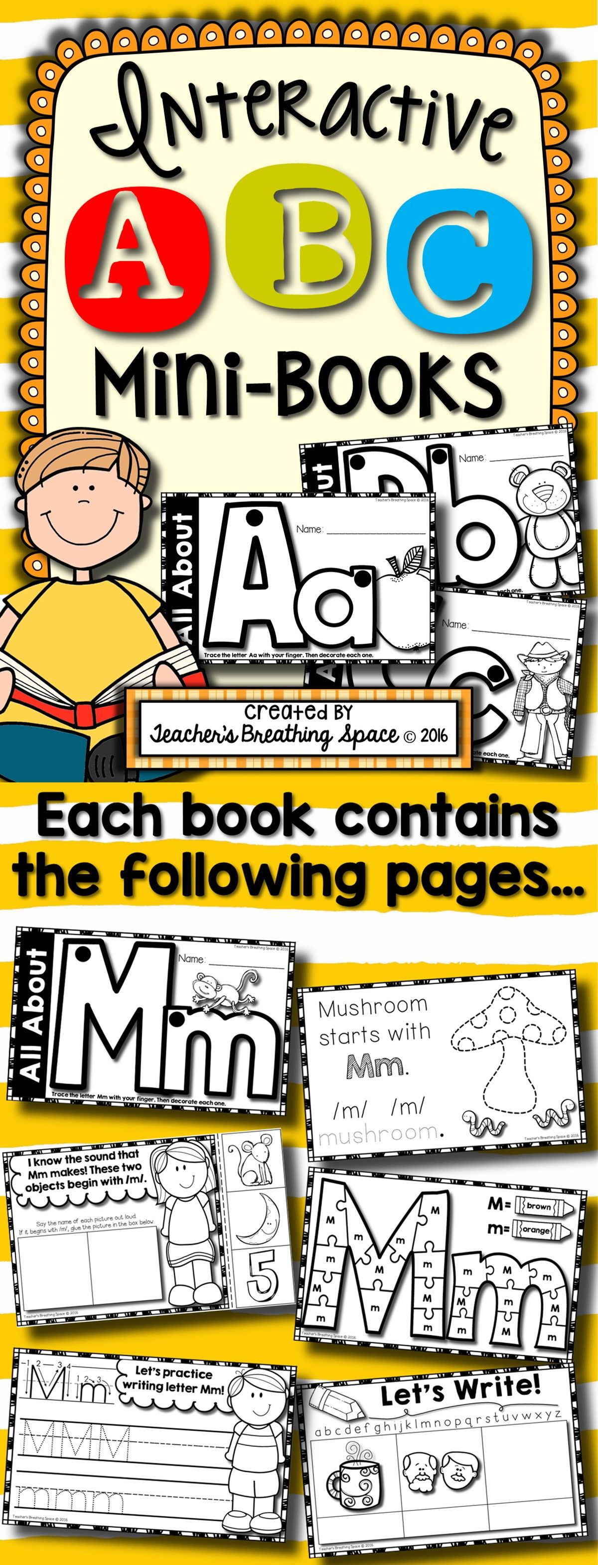 Alphabet Books Interactive Abc Mini Books For Every Letter Of The Alphabet