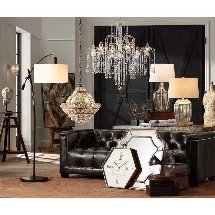 Wallingford 16 Wide Antique Br And Crystal Chandelier W6879 Lamps Plus
