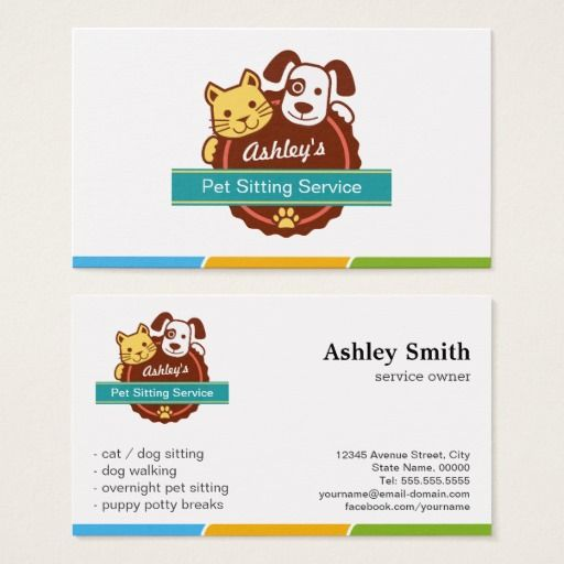 Pet Sitting Service Business Card Zazzleuk graphics