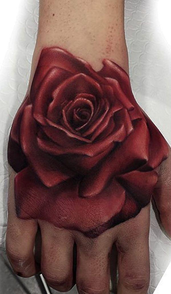 Realistic Rose Hand Tattoo C Tattoo Studio Roza Sake Tattoo Crew Hand Tattoos Sleeve Tattoos Rose Hand Tattoo