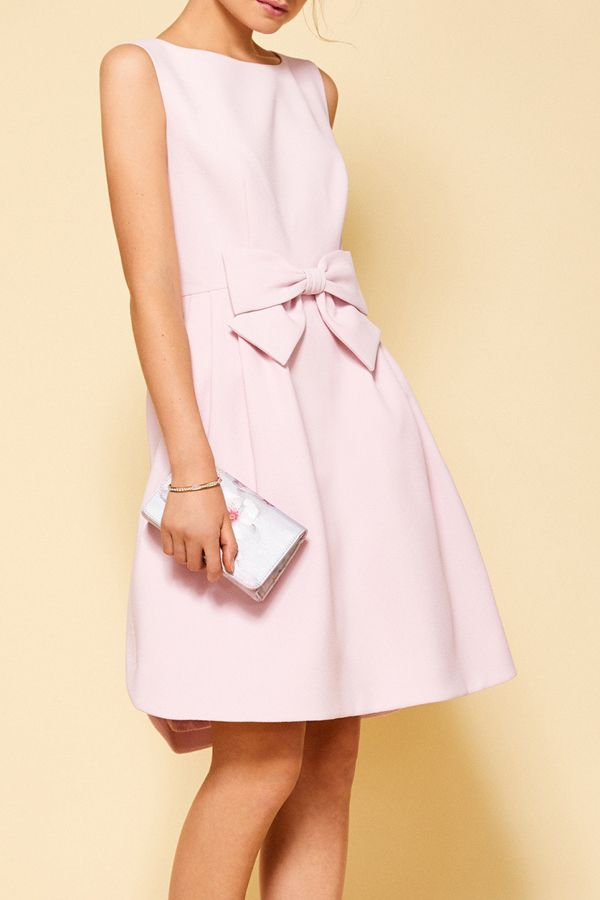 Baby Pink Bow Dress Wedding Guest Outfit Ideas Ted Baker Uk Affiliate Pink Bow Dress Guest Outfit Ted Baker Bow Dress