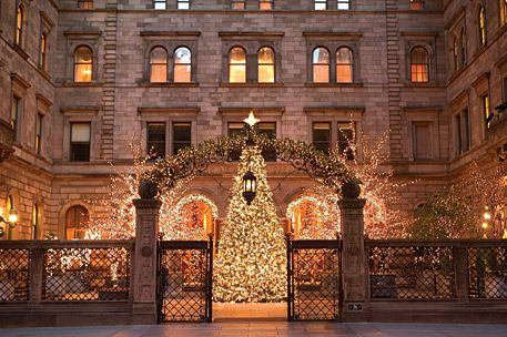 Christmas Palace.The New York Palace Hotel It Is So Beautiful At Christmas