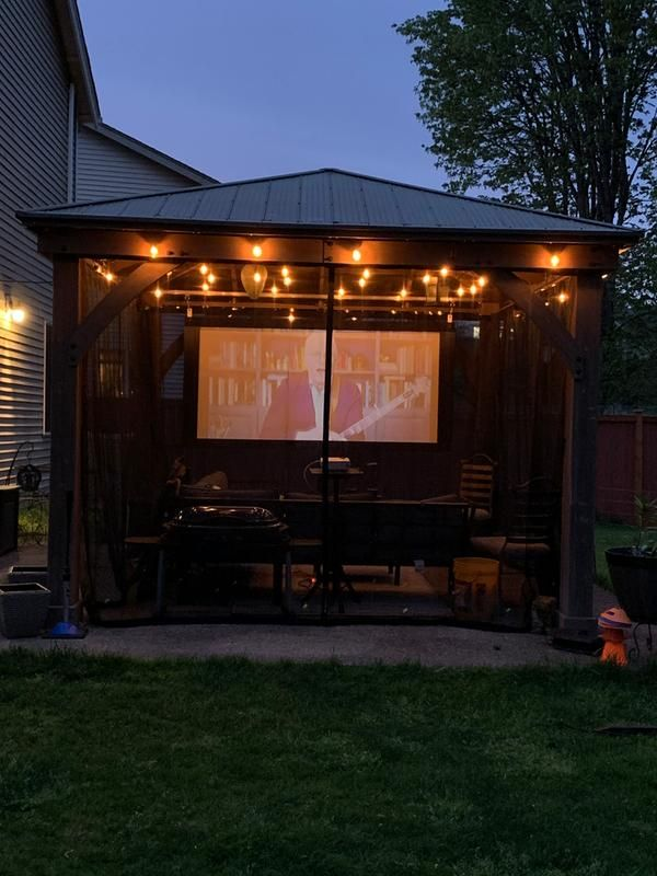 Check Out These 11 Outdoor TV Setups 🌴 📺 ☀️ - Yardistry Structures - Gazebos, Pavilions and Pergolas