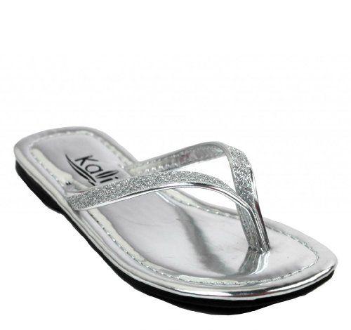 0e732d0dac06ea Kali Footwear Girl s Patent Flip Flop Flat Glitter Sandals 1 Kali Footwear  http